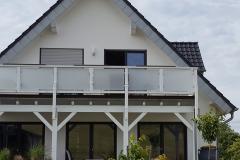 Balkonanbau mit Holzständerwerk
