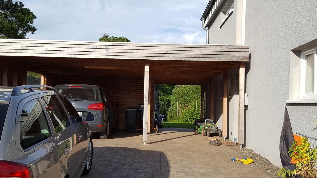 Carport mit Rhombusleisten