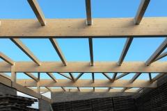 Dachkonstruktion einer Halle