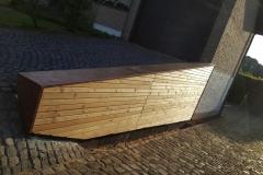 Rhombusleisten mit Kupferabdeckung